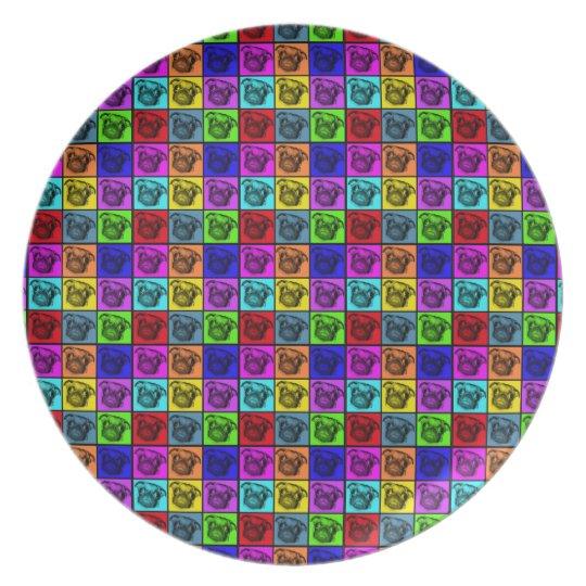 Pop Art Pug Plate