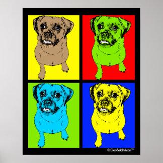 Pop Art Puggle Poster