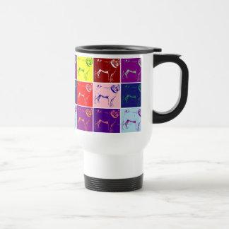 Pop Art Pugs Pug Dog Travel Mugs