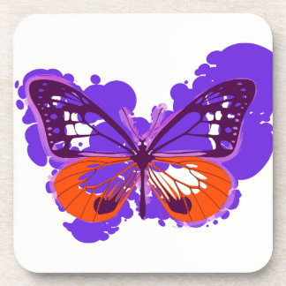 Pop Art Purple Butterfly Coasters