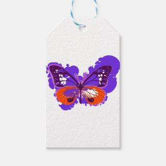 Pop Art Purple Butterfly Gift Tags