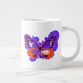 Pop Art Purple Butterfly Mug