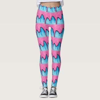Pop Art PussyCat Pink Leggings