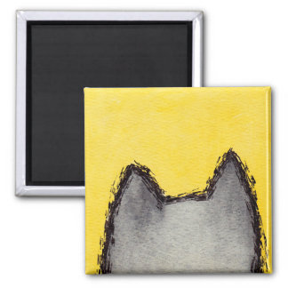 Pop Art PussyCat Yellow Magnet