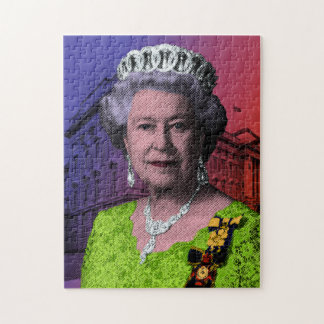 Pop Art Queen Elizabeth II Jigsaw Puzzle