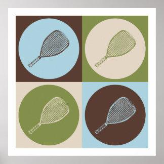 Pop Art Racquetball Poster