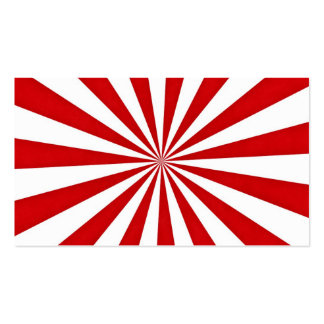 Pop Art Rays: Red and White Business Card