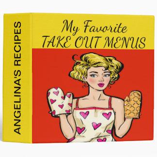 Pop Art Recipe / Take Out Menus Binder - See Back
