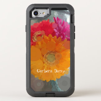 Pop Art Red Orange Gerbera Daisies Summer Otterbox OtterBox Defender iPhone 8/7 Case