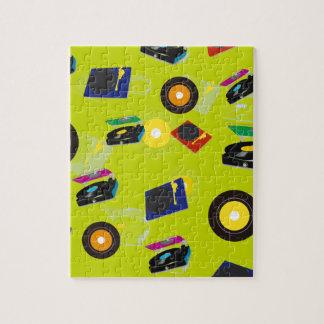 Pop Art Retro Colorful Music Jigsaw Puzzle
