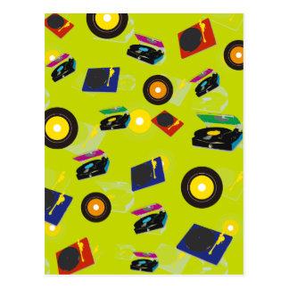 Pop Art Retro Colorful Music Postcard