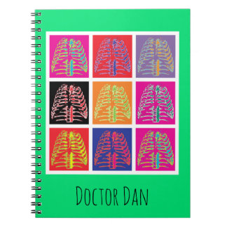 Pop Art Ribs Spiral Notebook