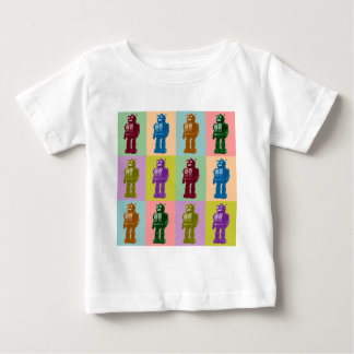 Pop Art Robots Baby T-Shirt