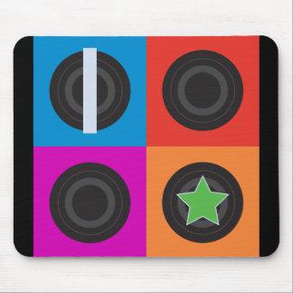 Pop Art Roller Derby Symbols Mouse Pads