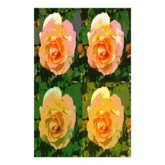 Pop Art Roses Paper Stationery