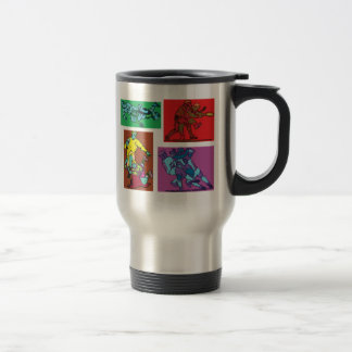 Pop Art Rugby 15 Oz Stainless Steel Travel Mug