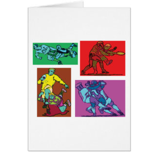 Pop Art Rugby Greeting Card