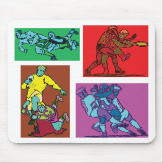 Pop Art Rugby Mouse Pad