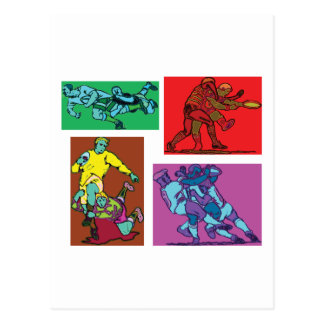 Pop Art Rugby Postcard