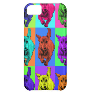 Pop Art Running Dachshund Ears Flapping Case For iPhone 5C