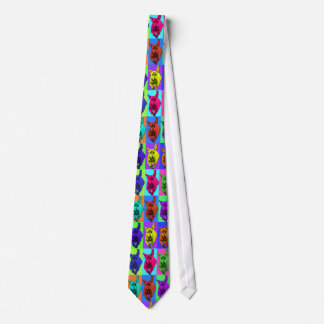 Pop Art Running Dachshund Ears Flapping Tie