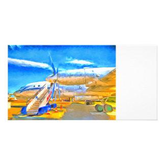 Pop Art Russian Airliner Card