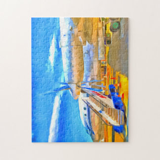Pop Art Russian Airliner Jigsaw Puzzle