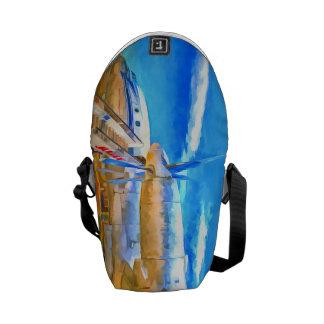 Pop Art Russian Airliner Messenger Bag
