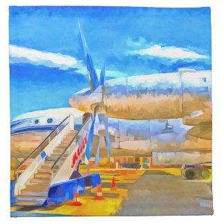 Pop Art Russian Airliner Napkin