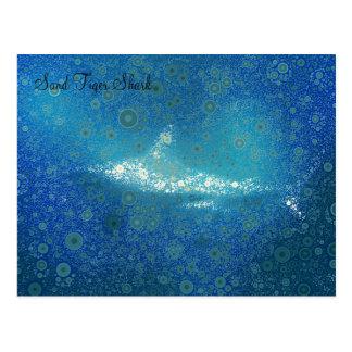 Pop Art Sand Tiger Shark Postcard