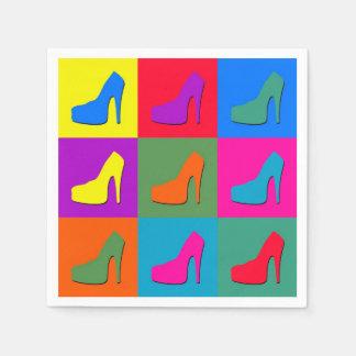 Pop art shoes disposable napkins