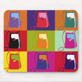 Pop Art Shoulder Purse Mouse Pad