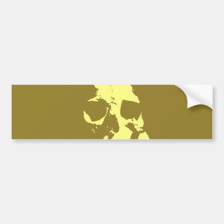 Pop Art Skull Bumper Sticker