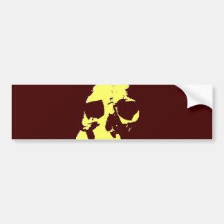 Pop Art Skull Bumper Stickers