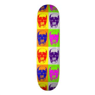 Pop Art Skull Skateboard Skate Board Deck