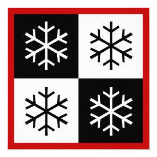 Pop Art Snowflakes ~ Christmas Card