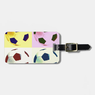 Pop Art Soccer Balls Luggage Tag