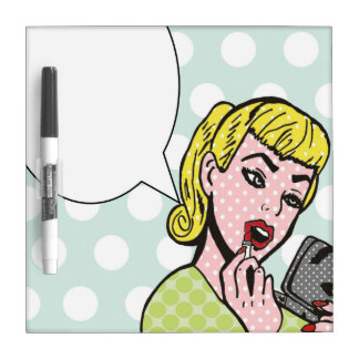 Pop Art Speech Bubble Dry Erase Board
