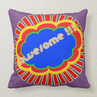 Pop art speech bubble throw pillow