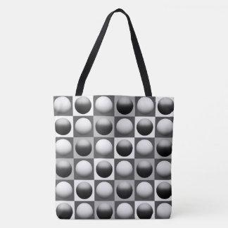 Pop Art Spheres, Black, White and Gray / Grey Tote Bag