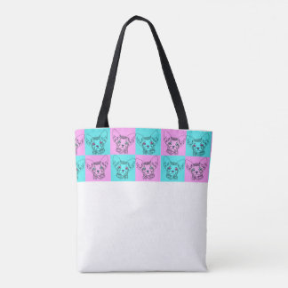 Pop Art Sphynx Kitten Tote