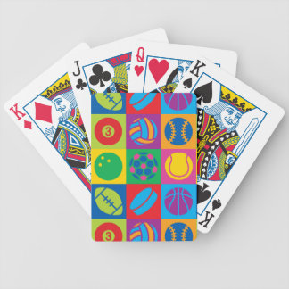 Pop Art Sports Balls Bicycle Playing Cards