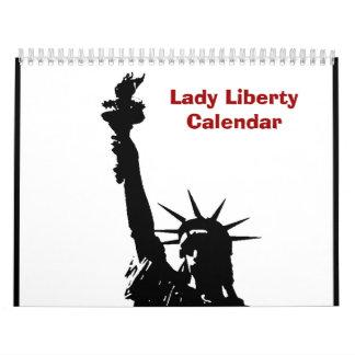 Pop Art Statue of Liberty 2017 Calendar