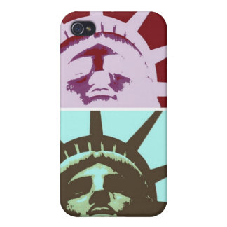 Pop Art Statue of Liberty Cover For iPhone 4