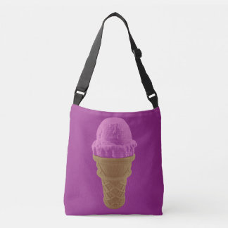 Pop Art Strawberry Ice Cream Cone Crossbody Bag
