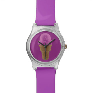 Pop Art Strawberry Ice Cream Cone Watch