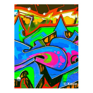 Pop Art Street Graffiti Wall Design #1 Postcard