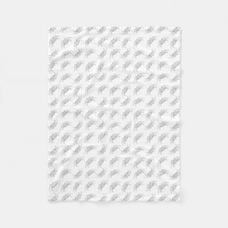 Pop Art Style Crabs Motif Pattern Fleece Blanket