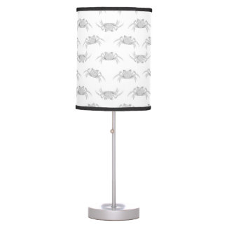 Pop Art Style Crabs Motif Pattern Table Lamp