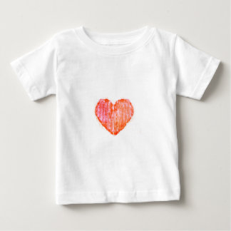 Pop Art Style Grunge Graphic Heart Baby T-Shirt